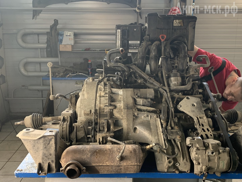 АКПП 722.7 Mercedes-Benz A-Class демонтируется вместе с мотором